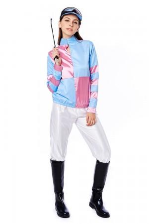 Womans Jockey Horse Racing Rider Ladies Uniform Fancy Dress Costume Outfit Hat
