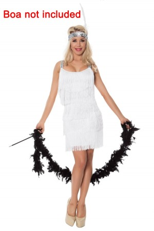 White Ladies 20s 1920s Charleston Flapper Chicago  Costume  lh340w