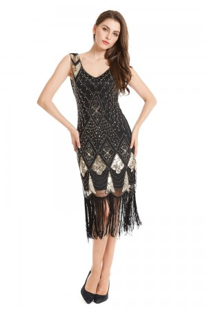 Ladies 20s Gatsby Flapper Fancy Dress Costume