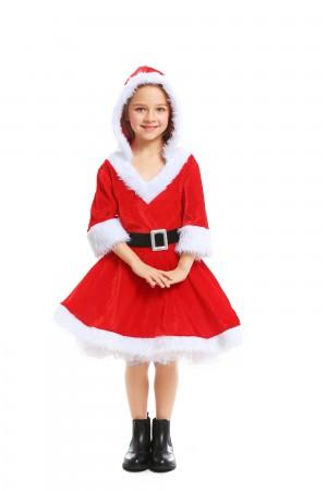 Girls Deluxe Xmas Costume