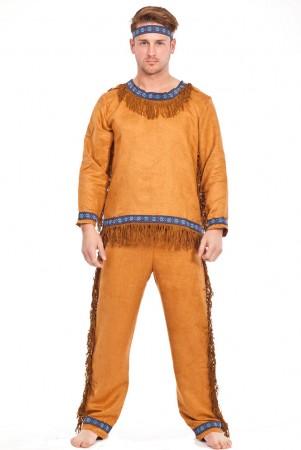 Wild West Costumes - Noble Warrior Native American Indian Halloween Fancy Dress