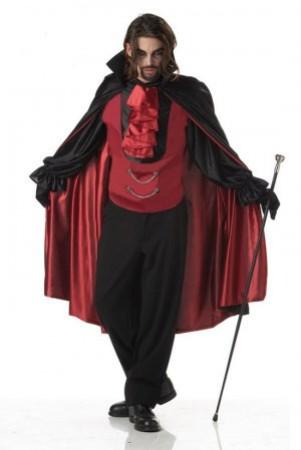 Devil Costumes - Halloween Vampire Mens Costume