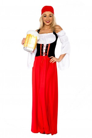 New Ladies German Heidi Beer Maid Oktoberfest Wench Fancy Dress Costume Gretchen