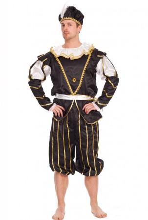 Medieval Costumes - Mens Medieval Noble Man Knight Middle Ages Fancy Dress Costume