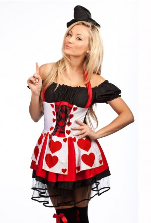 Queen of Hearts Fancy Dress - red heart
