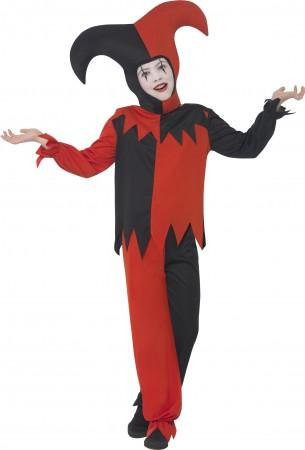 Twisted Jester Costume Halloween Boys Child Kids Harlequin Mask