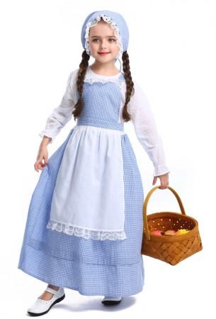 Girls Poor Victorian Maid Costume Retro Nanny Book Week Olden Days Fancy Dress