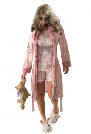 Zombie Costume Halloween Womens Teen Bloody Walking Dead Horror Fancy Dress