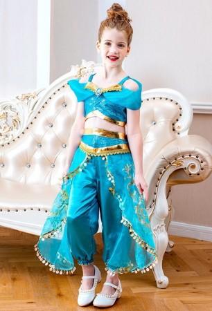 Kids Aladdin Arabian Jasmine Costume