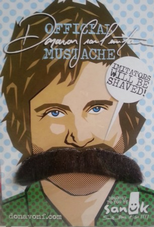Peel & Stick Novelty Toy Fake Moustache Disguise