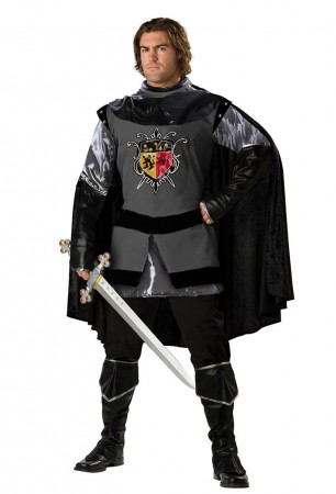 Medieval Costumes - Mens Valiant Medieval Knight Renaissance Fancy Dress Adult Costume