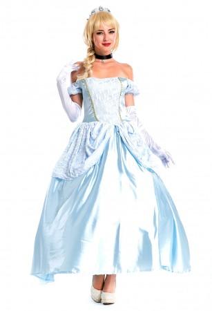 Deluxe Disney Cinderella Princess Costume Fairy Tale Fancy Dress Ball Gown