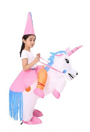 Kids Unicorn carry me inflatable costume tt2018-2