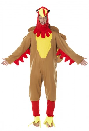 Fleece Turkey Funny Adult Thanksgiving Christmas Halloween Fancy Costume