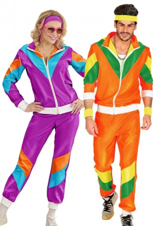 couples 80s tracksuit