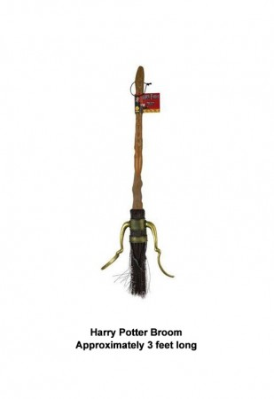 Harry Potter Quidditch Flying Firebolt Broom Costume Accessories