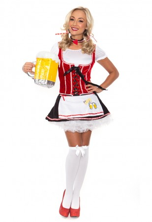 Oktoberfest Costumes Australia - Ladies German Oktoberfest Beer Maid Halloween Fancy Dress
