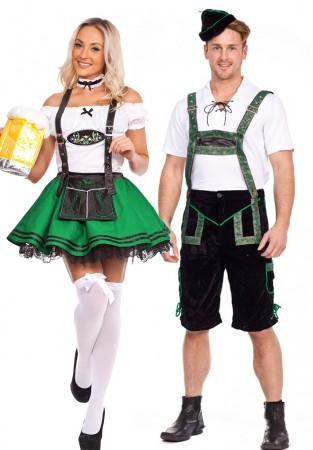 Green Couple Oktoberfest Bavarian Costume lh201+lg204green