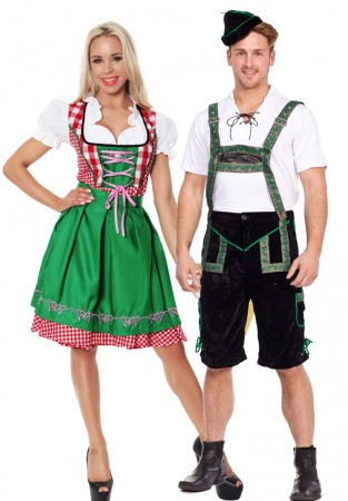 Green Couple Oktoberfest Vintage Costume lh201+lg8001