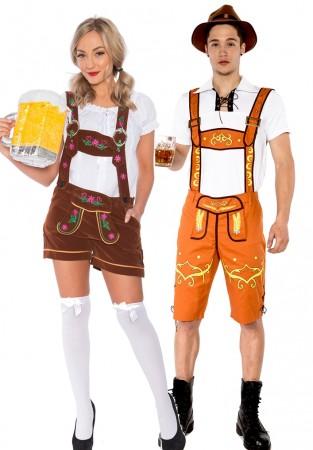 Couple Lederhosen Traditional Costume lh215b+lh305