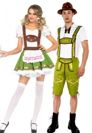 Couple Lederhosen Oktoberfest Dirndl Costume lh215g+lh325