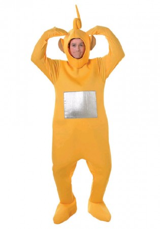 Teletubbies Costume Party Fancy Dress Up Licensed Outfit Unisex Laa-Laa Adult TV Show Jumpsuit