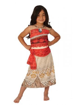 Moana Polynesia Princess Dress Kids Hawaiian Necklace Girls Costume