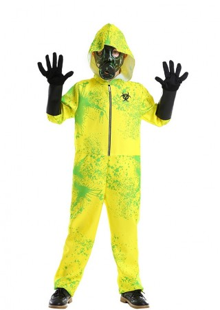 Kids Biohazard Hooded Hazmat Costume