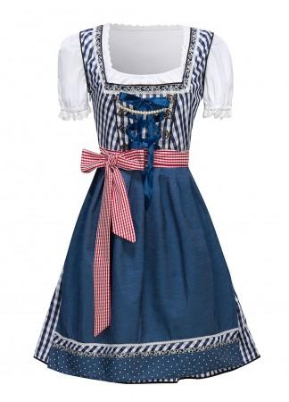 Ladies bavarian Oktoberfest Costume 3d front lh326b