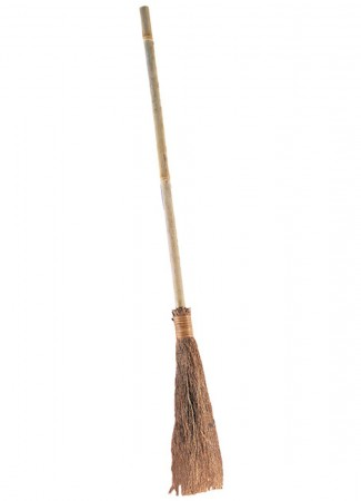 Wicked Witch Brown Straw Broom
