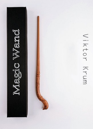 Krum Harry Potter Magical Wand In Box Replica Wizard Cosplay
