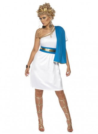 Roman Costume - Adult Womens Roman Beauty Costume Smiffys Toga Greek Roman Party Costume Fancy Dress