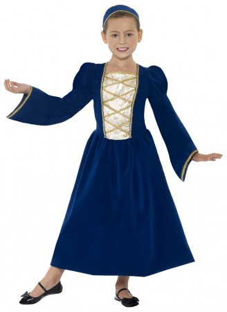 Kids Costume - Child Girls Tudor Renaissance Princess Medieval Fancy Dress Costume Childrens Book Week