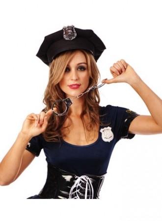 hand cuffs Policeman Police Officer Costume Accessory lz371cuffs