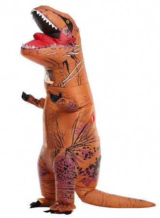 Child T-Rex Jurassic World Park Blow up Dinosaur Inflatable Costume