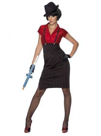 Ladies Gangster Costume cs33722