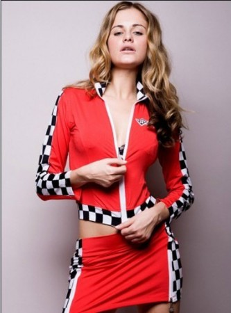 Sports Costumes - Ladies Racer Racing Uniform Fancy Dress