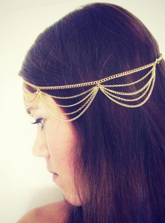 Bohemian Deco Vintage Hairband 20s  Flapper Chain Headband