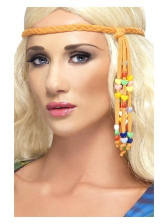 60s Hippie Beaded Headband cs34003