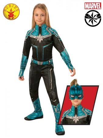 Classic Captain Marvel Knee Suit Hero Avengers End Game Carol Danvers Cosplay Suit
