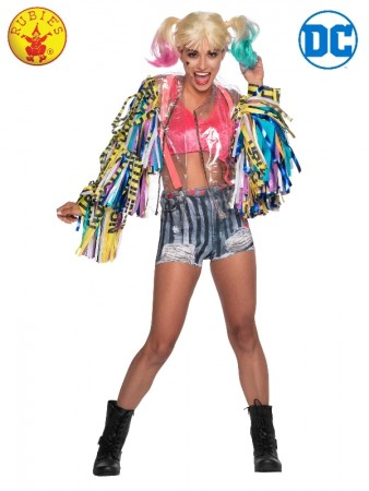 HARLEY QUINN BIRDS OF PREY COSTUME ADULT