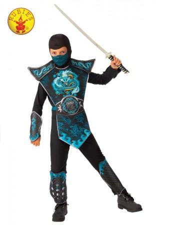 Kids Blue Dragon Ninja Costume cl702080