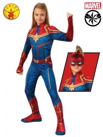 Classic Captain Marvel Hero Avengers End Game Carol Danvers Cosplay Suit