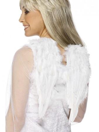 Feather White Angel Wings Angel Fairy Adults Fancy Dress Costume Halloween 30cmx40cm