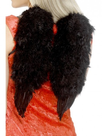 Feather Black Angel Wings Angel Fairy Adults Fancy Dress Costume Halloween