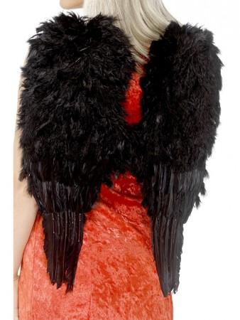 Feather Black Angel Wings Angel Fairy Adults Fancy Dress Costume Halloween 50cm * 60cm