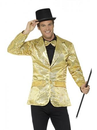 Mens Tuxedo Suit Gold Sequin Jacket Charleston 40s Dance Coats Blazers Costume