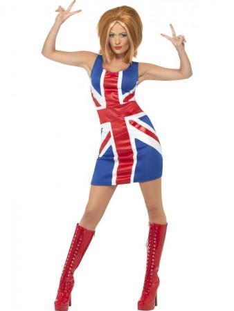 Women's 90's Icon Spice Girls Pop Star Fancy Dress Up Celebrity Costume