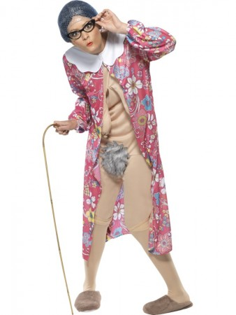 Gravity Granny Adult Unisex Comical Comedy Funny Fancy Dress Bucks Hens Stag Costume