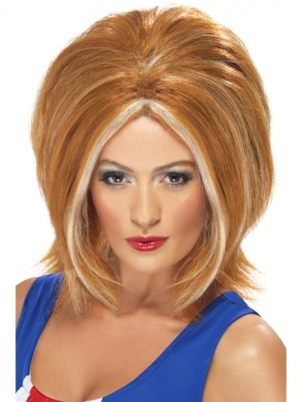 Spice Girls Ginger Girl Bob Power Womens Wig Blonde 90s Pop Star